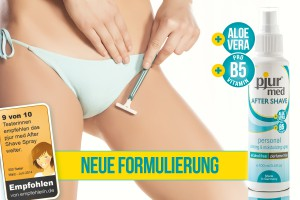 pjur med AFTER SHAVE spray mit neuer Formulierung