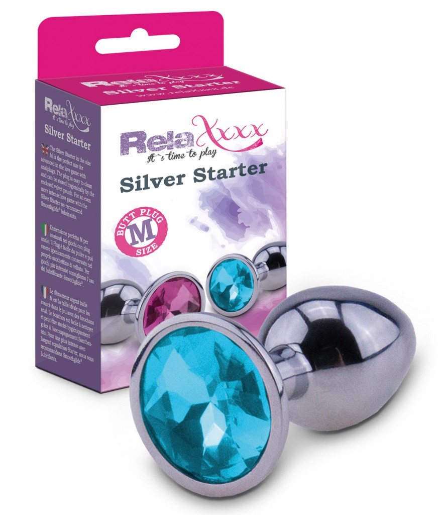 55078846_RelaXxxx_Silver_Starter_Plug_blue_Size_M_Front_Packshot_100