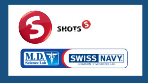 Shots and Swiss Navy combined logos